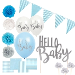 Jabadabado Babyshower Set Hello Baby BOY