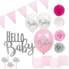 Jabadabado Babyshower Set Hello Baby Girl